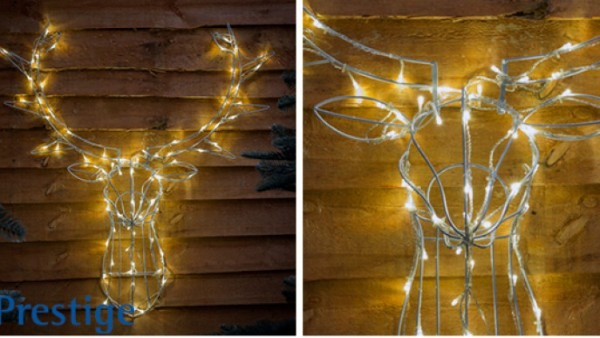 Christmas Stag Head Led Wall Mount £12 99 @ Home Bargains