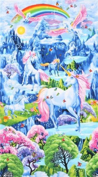 Colorful Unicorn Panel Fabric Timeless Treasures With Rainbows
