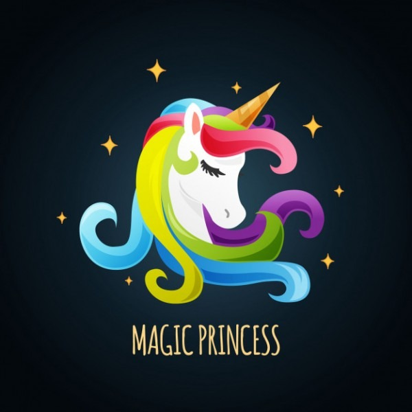 Cute Unicorn Background Vector
