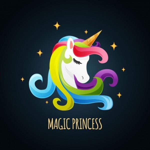 Cute Unicorn Background Vector