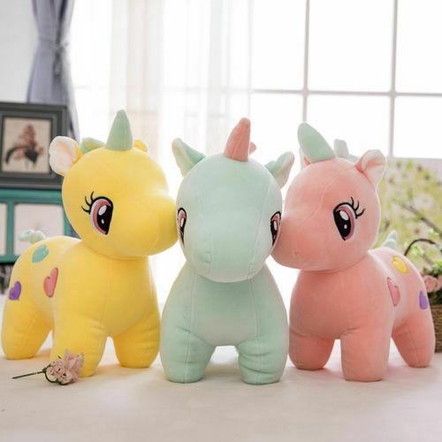Cute Unicorn Plush Fluffy Stuffed Animal Lovely Cartoon Doll Toys
