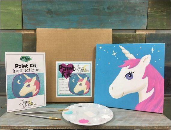 Diy Paint Party Instructions Best Seller Unicorn Paint Kit Diy Art