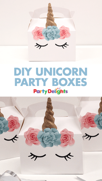 Diy Unicorn Party Boxes
