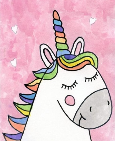 Easy Unicorn Drawing For All Ages · Art Projects For Kids