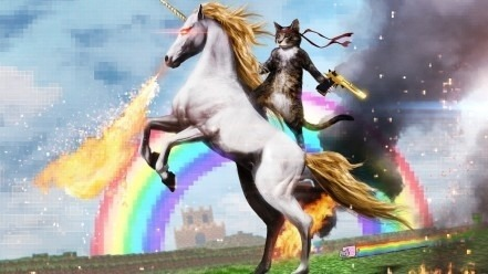Epic Kitty Unicorn Rider