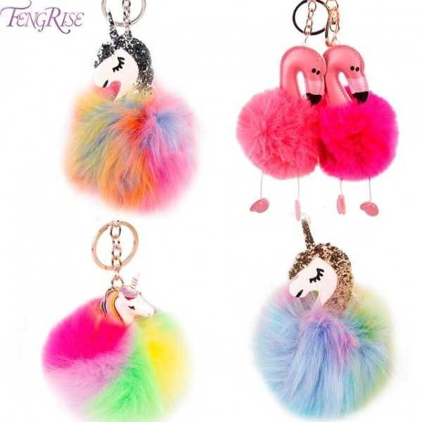 Fengrise Unicorn Birthday Party Decorations Pom Flamingo Plush
