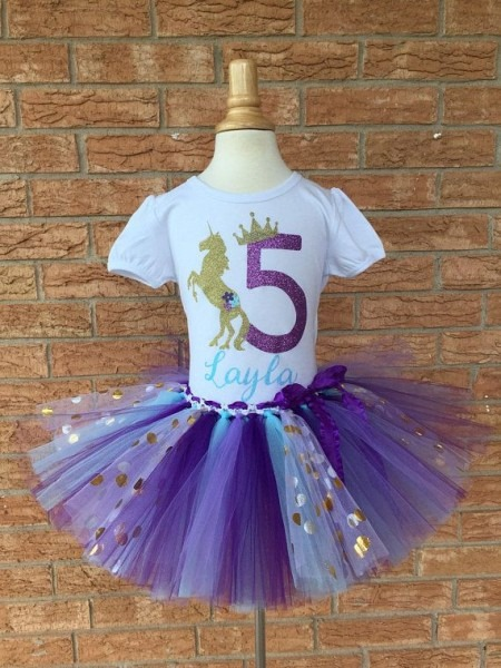 Fifth Birthday Shirt Blue And Purple, 5th Birthday Outfit, Girls
