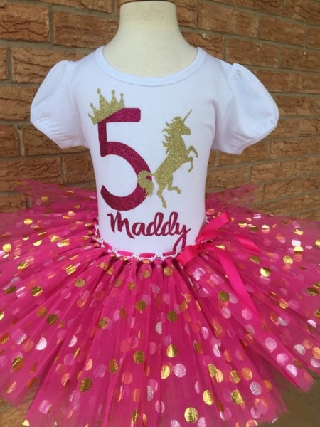 Fifth Unicorn Birthday Shirt 5th Birthday Outfit Girls Fifth