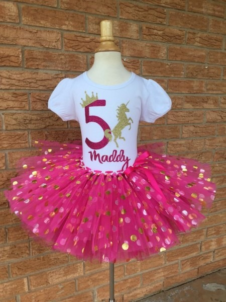 Fifth Unicorn Birthday Shirt, 5th Birthday Outfit, Girls Fifth