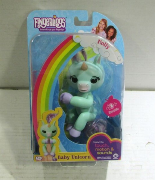 Fingerlings Molly Green Baby Unicorn Wowwee Interactive Toy Pet 40