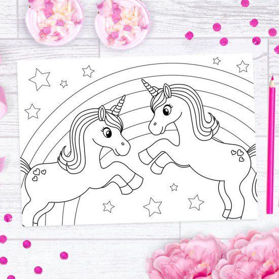 Free Unicorn Colouring Printables