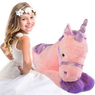 Giant Stuffed Unicorn Bean Bag Chair [my Review]
