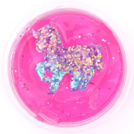 Hot Pink Glitter Unicorn Slime With Case Kawaii Mud Clay Jelly Diy