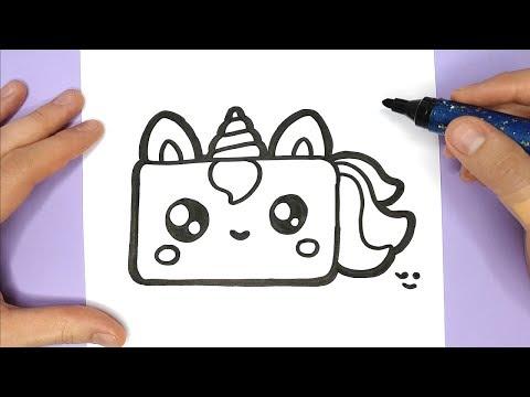 How To Draw A Cute Unicorn Birthday Cake