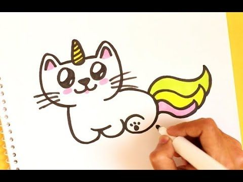 How To Draw A Cute Unicorn Cat