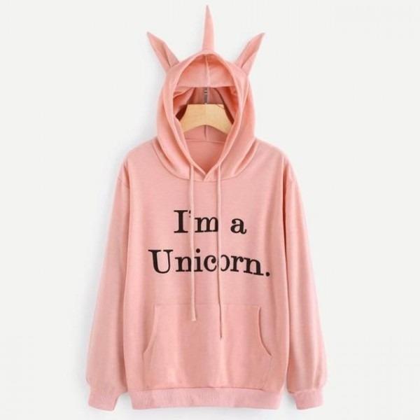I Am A Unicorn  Statement Printed Sweat Shirt Sweater Hoodie