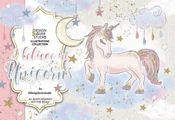 I Believe In Unicorns Design Unicorn Clipart Cute Baby