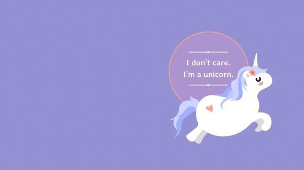I'm A Unicorn Desktop Wallpaper – Free Wallpaper Maker To Design