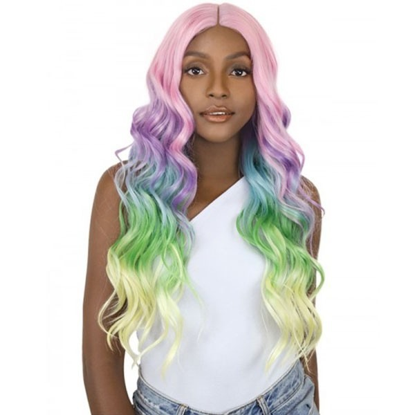 It's A Wig Synthetic Unicorn Color Lace Front Wig Body Wave