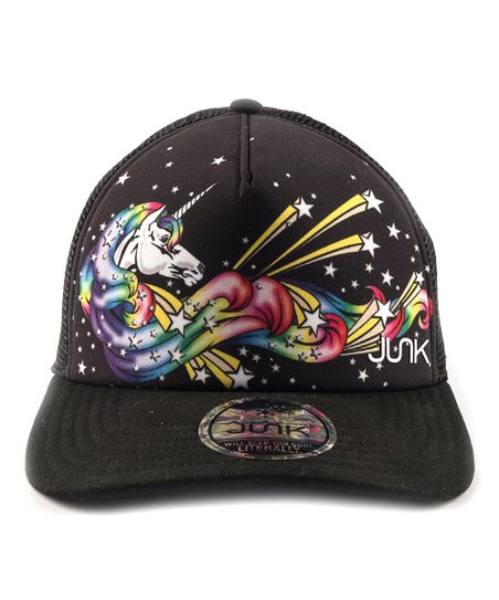 Junk Brands Black Celestial Unicorn Trucker Hat