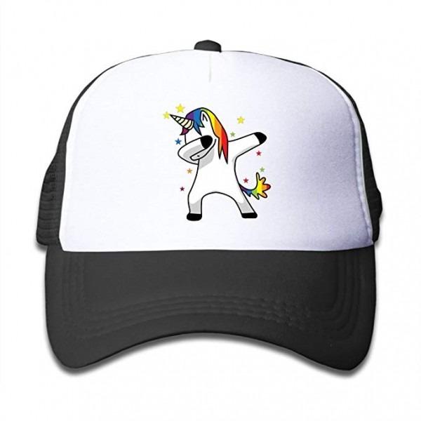 Kaomaoxi Adjustable Baseball Mesh Cap The Dabbing Unicorn Trucker