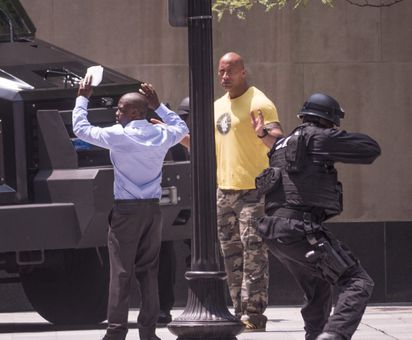 Kevin Hart, 'the Rock' Filming In Financial District