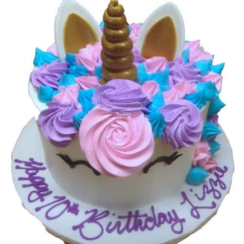 Kids And Character Cake 46 Unicorn Cake (fondant Horn & Ears