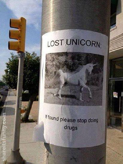 Lost Unicorn Poster