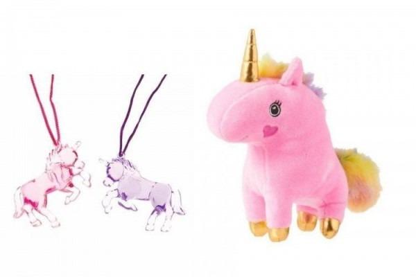 Musical Unicorn Plush 6  2 Unicorn Necklaces (random Colors