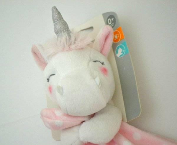 Nwt Carter's Pink White Unicorn Plush Satin Lovey Security Blanket