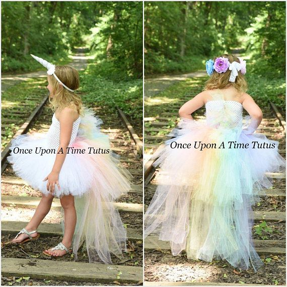 Pastel Unicorn Bustle Tutu Dress