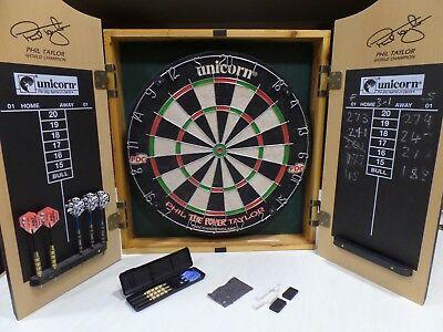 "Phil ""the Power"" Taylor World Champion Unicorn Bristle Dart Board"