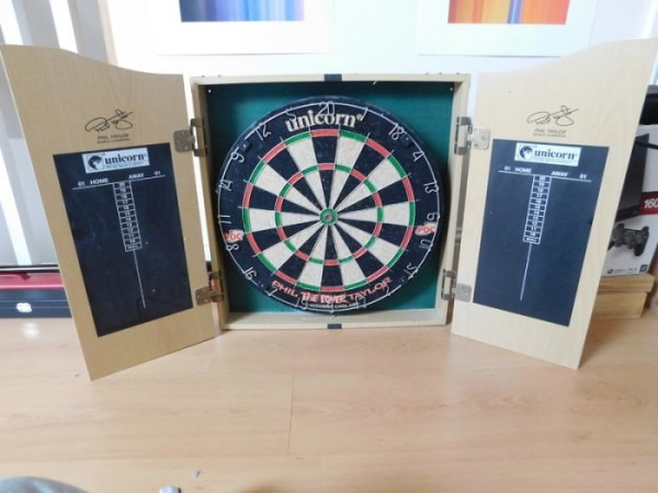 Phil The Power Taylor Unicorn Dart Board Cabinet For Sale In