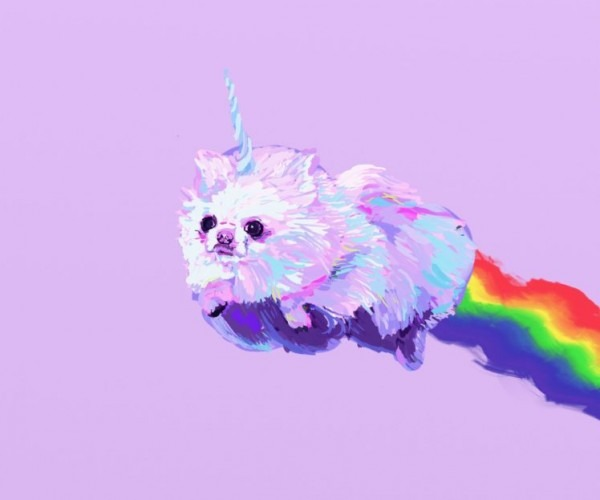 Pomeranian, Dog, Dogs, Fantasy, Unicorn Wallpapers Hd   Desktop