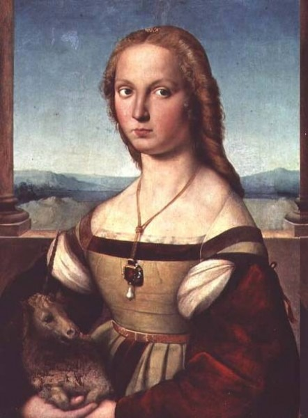 Portrait Of A Young Woman With A Unicorn