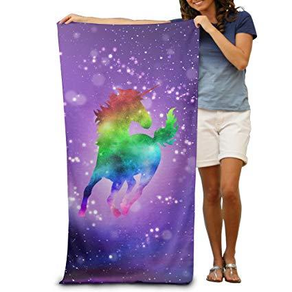 Rainbow Galaxy Unicorn Bath Towels Beach Towels Swim Towels Adults