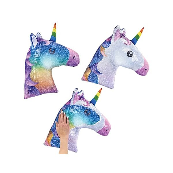 Sequin Swipe Unicorn Throw Pillow