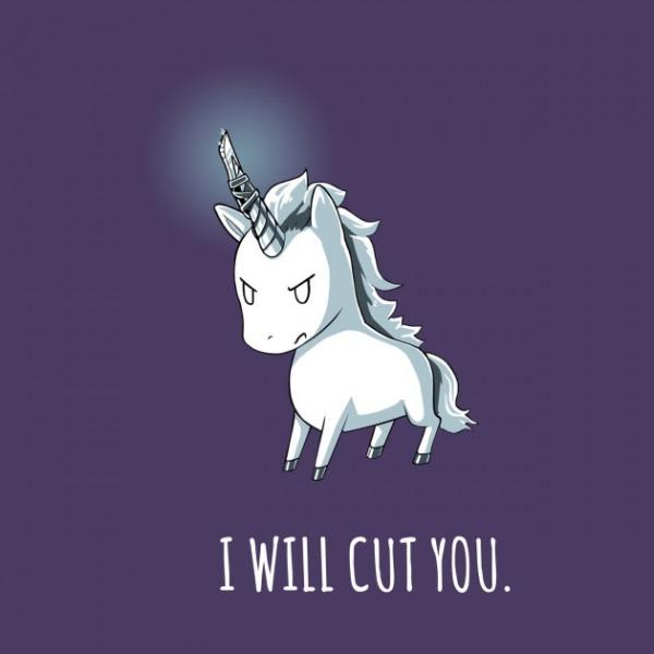 Stabby The Unicorn I Will Cut You Standa
