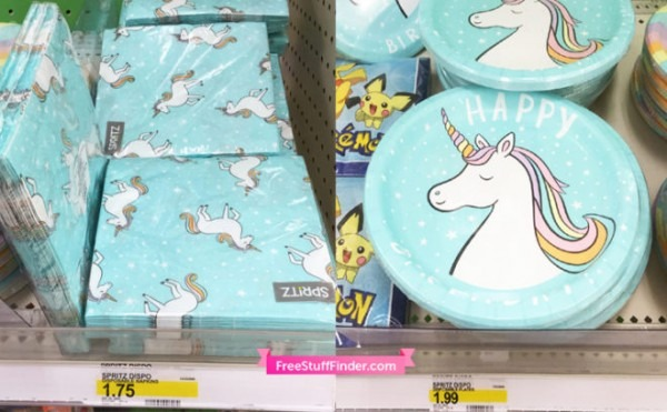 Target Com  $1 Off Select Party Supplies = Unicorn
