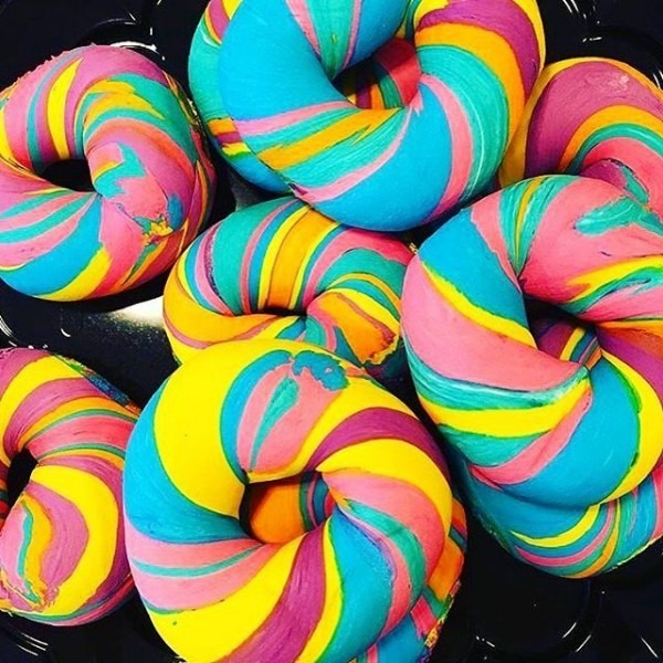 The Bagel Shop, Nyc Rainbow Bagels