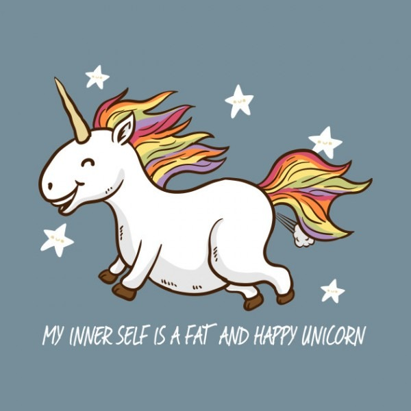 The Fat And Happy Unicorn