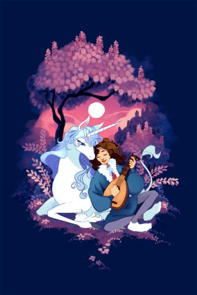 The Last Unicorn And Dan Avidan By Onsta Tumblr Com And Zetallis