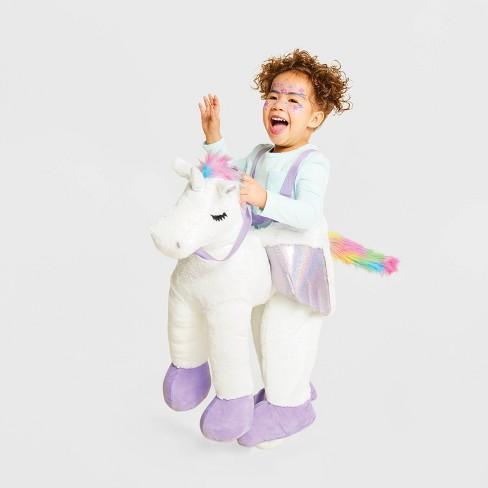 Toddler Plush Unicorn Rider Halloween Costume One Size