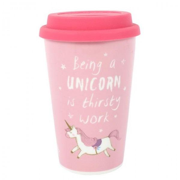 Unicorn Ceramic Thermal Travel Mug