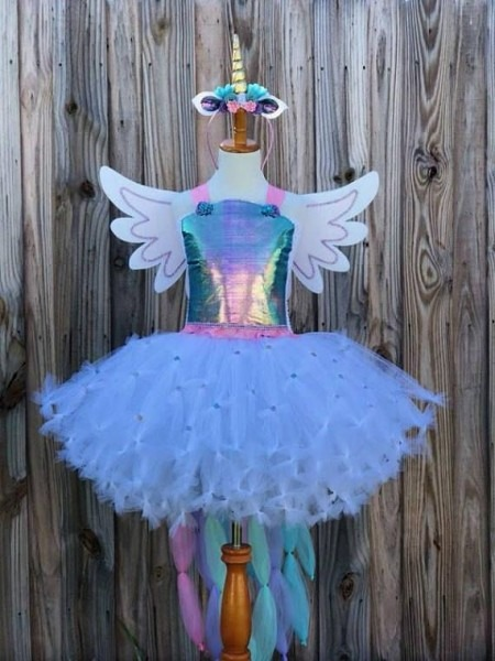 Unicorn Costume, Unicorn Tutu, Unicorn Birthday Dress, Girl