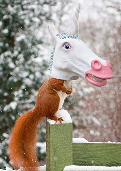 Unicorn Head Squirrel Feeder By Archie Mcphee (limited Edition