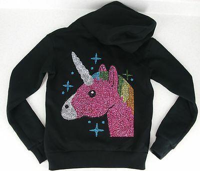 Unicorn Hoodie Girls M Rhinestone Hooded Sweatshirt 7 8 New Super