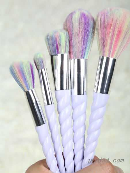 Unicorn Makeup Brushes Set Light Purple