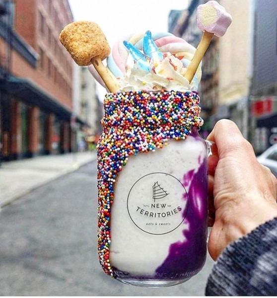 Unicorn Milkshake From New Territories Nyc