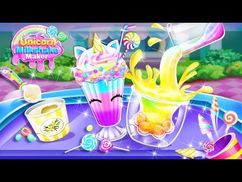 Unicorn Milkshake Maker –ice Drink Milkshakes Game
